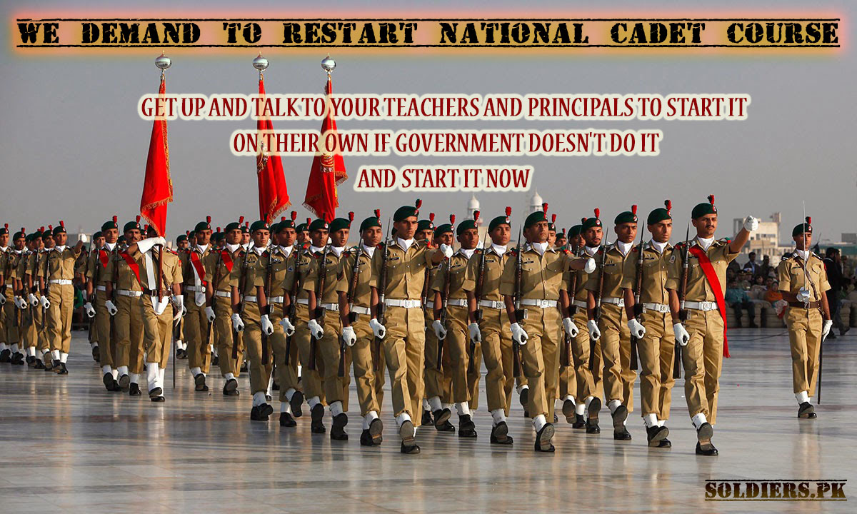We demand resuming NCC in Pakistan